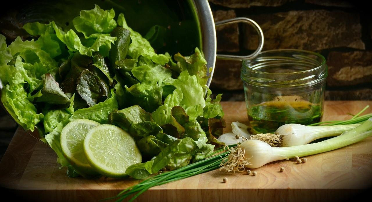 salade et citron